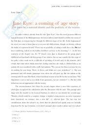 jane eyre charlotte bront euml esercitazione di inglese saggio breve in inglese su jane eyre charlotte bronteuml pagina 1