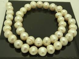 10mm-11mm <b>Freshwater</b> Natural White <b>Pearls Irregular Round</b> ...