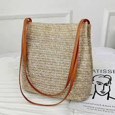2019 women's straw bag retro <b>rattan hand woven</b> Tote bag <b>fashion</b> ...