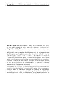 Corinna Dahlgrün/Jens Haustein (Hgg.), Anmut und Sprachgewalt. Zur ... - arb-2013-0100
