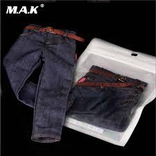 Online Shop <b>1:6 Scale Male</b> Clothes Classic Denim Trousers <b>Man</b> ...