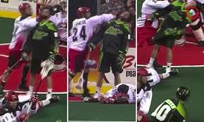 Lacrosse player Zack Greer struck in the face with a ball after he was ...