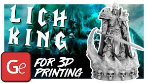 Lich King <b>Lord</b> Of Terror 3D <b>Printing</b> Miniature | Assembly by Gambody