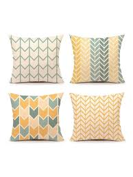Buy Modern Design <b>Geometric Pattern Cushion</b> Cover Warm <b>Color</b> ...