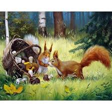 Buy <b>cute</b> squirrel art from 31 USD — free shipping, affordable prices ...