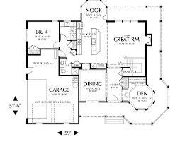 Merrimac   Bedrooms and   Baths   The House DesignersFirst Floor Plan