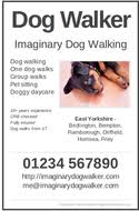 FREE Dog Walker posters & flyers - advertise your dog walking ... Blue - preview Purple - preview Black and white - preview