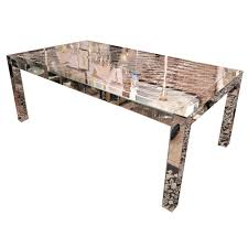 dining room table mirror top:  solid mirrored wood dining table