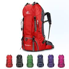60L Waterproof Polyester <b>Outdoor</b> Travel <b>Backpack Rucksack Sport</b> ...