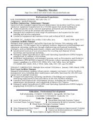 facilities manager resume sample resume sample data center facilities manager resume sample