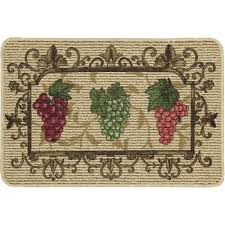 grapes grape themed kitchen rug:  decorative kitchen floor mats small size mainstays nature trends grape bunches printed kitchen mat red green
