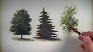 How to <b>Paint</b> Trees with Watercolor - YouTube