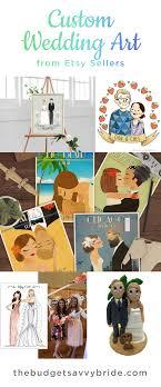 Etsy Art Custom Wedding Art From Etsy The Budget Savvy Bride