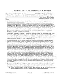 non compete agreement template templates in pdf word confidentiality and non compete agreement template