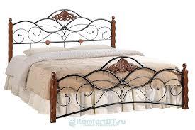 Купить <b>кровать TetChair Canzona 120х200</b> черный/красный дуб в ...