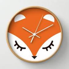 fox minimal wall clock by gabriela 3000 blank wall clock frei
