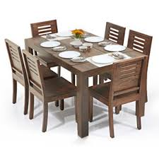 dining sets seater:  dining table arabia capra  seater dining table set teak finish cheap dining