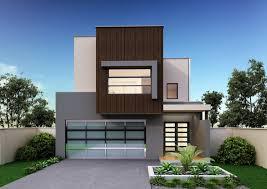 Homes For Narrow Blocks   Better Built Homesfacade for double storey floor plan for narrow block