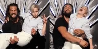 <b>Emilia</b> Clarke and Jason Momoa reunite at '<b>Game of Thrones</b>' cast ...