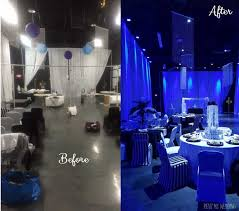 before and after uplighting wedding reception transformation rent online for 19each free blue wedding uplighting