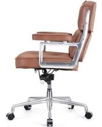 meelano mid back leather office chair brown brown leather office chairs