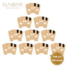 <b>NAOMI 10PCS 4</b>/4 Violin Bridge Master AA Grade Maple Bridge W ...