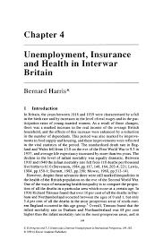 unemployment insurance and health in interwar britain springer inside