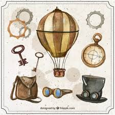 Free Vector | Watercolor <b>steampunk</b> elements set