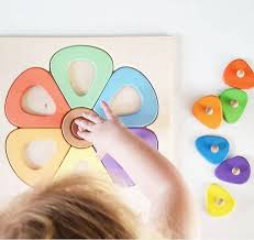 Wooden <b>Flower Puzzle</b> | Eco Friendly Toys - <b>Happy</b> Go Ducky
