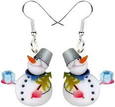 NEWEI Cute Acrylic Cartoon Christmas Snowman ... - Amazon.com