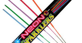 Novelties   Sparklers   <b>Neon</b> Sparkler 5pc Bag   Phantom Fireworks