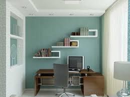 extraordinary design ideas of office blue walls brown furniture