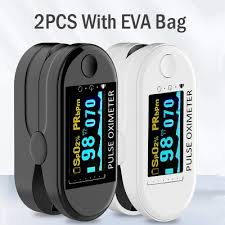 <b>2PCS Digital Finger Oximeter</b> Portable Electronic LED Display ...