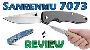 Review of the <b>Sanrenmu 7073</b> Frame Lock Folder. It comes in 3 ...