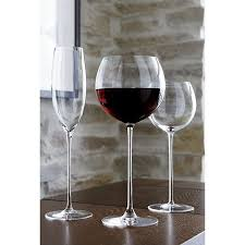 room modern camille glass: the camille glasses rise to the occasion on elongated slender stems with bubble bowls that are