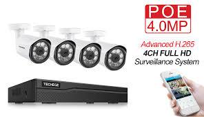 Techege 4CH <b>CCTV</b> Surveillance Kit <b>HD 4.0MP</b> 2560x1440P ...