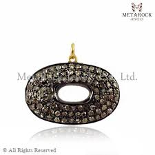 Pave Diamond <b>14k</b> Pendant at Rs 8000 /piece | Gold Pendant | ID ...