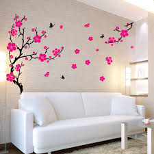 palm tree wall stickers: large plum blossom wall sticke jungle tree wall sticker