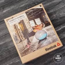 <b>Гимнастический мяч</b> 65 см <b>Reebok</b> серо-голубой RAB-40016BL ...