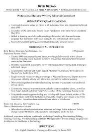 Beth Brown  Professional Resume Writer   Free Resume Samples     Susan Ireland Resumes