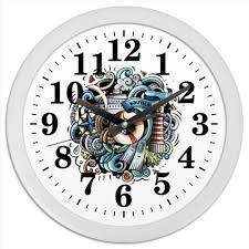 "Часы круглые из пластика ""Морские"" #2245089 от Ирина - <b>Printio</b>"