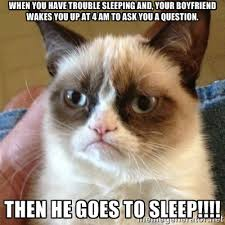 When you have trouble sleeping and, your boyfriend wakes you up at ... via Relatably.com