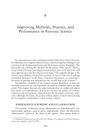 improving methods practice and performance in forensic science page 183