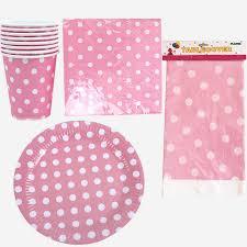 61pcs Wedding Decoration Tablecloth Party <b>Pink</b> Polka Dots ...