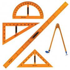 <b>Набор чертежный</b> для классной доски (2 треугольника ...
