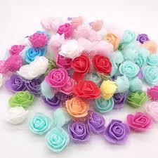 50Pcs/lot 3.5cm <b>Mini</b> PE Foam Rose Flower Head <b>Artificial</b> Flowers ...
