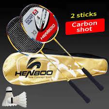 <b>HENBOO</b> Professional Badminton Racket Set Family Double ...