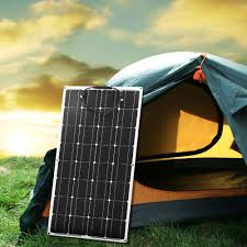 <b>Dokio 12V 100W</b> Monocrystalline Flexible Solar Panel Portable ...