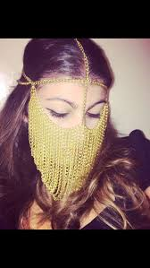 Pin by CSS ChinaGirl on MAKE UP | <b>Gold</b> face, Chain headpiece ...