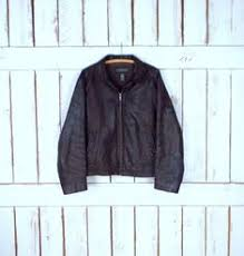 Vintage 90s dark <b>brown faux leather</b> fitted faux fur <b>collar</b> jacket ...